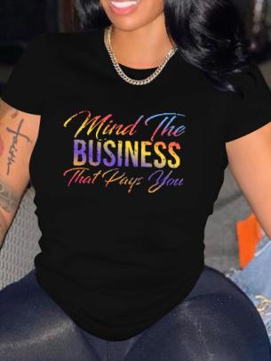 Fashion Printed Round Neck T-Shirt Wholesale Clothing Vendor Nihaostyles NSXPF71643