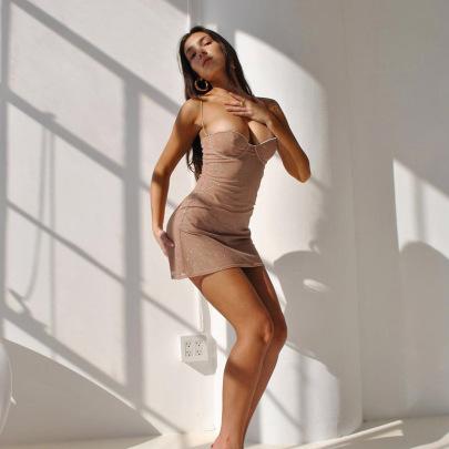 Female Glitter Bright Diamond Sling Princess Dress Nihaostyles Clothing Wholesale NSXPF71678