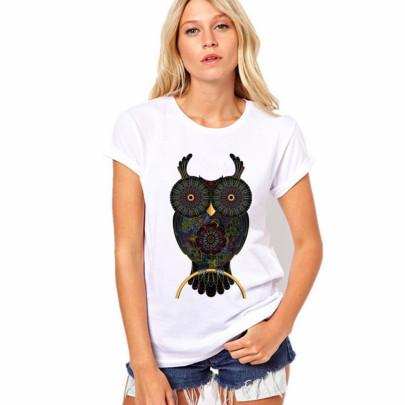 Big-eyed Owl T-shirt Wholesale Nihaostyles Clothing Vendor NSXPF71701