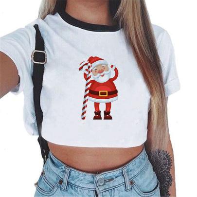 Christmas Printing Top Wholesale Nihaostyles Clothing Vendor NSXPF71706