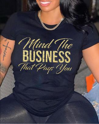 Print Crew Neck T-shirt Wholesale Nihaostyles Clothing Vendor NSXPF71820