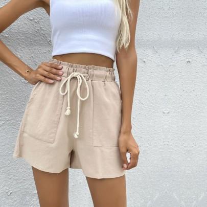 Cotton Loose Drawstring Cotton Linenwide-leg Shorts Wholesale Clothing Vendor Nihaostyles NSYYF71875