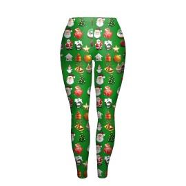 Christmas Clothing Slim Leggings Printed Pants Nihaostyles Wholesale Clothing Vendor NSNDB72045