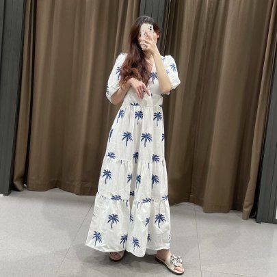 Embroidered Long Ethnic Style Dress Nihaostyles Clothing Wholesale NSAM72061