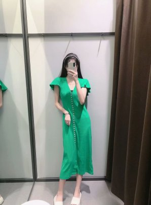 Women's Autumn Breasted Ribbed Dress Nihaostyles Clothing Wholesale NSAM72081