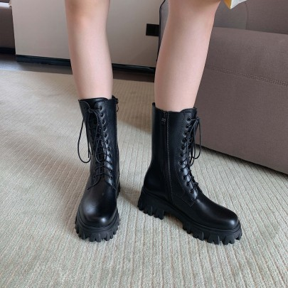 Thick-soled Heightening Tube Boots Nihaostyles Wholesale Clothing Vendor NSCA72153