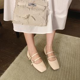 Fashion Double Straps Square Toe Shoes Nihaostyles Wholesale Clothing Vendor NSCA72157