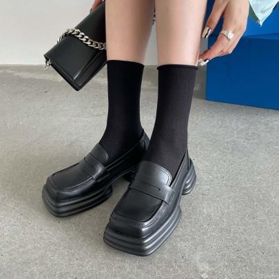 Retro Small Leather Platform Shoes Nihaostyles Wholesale Clothing Vendor NSCA72162