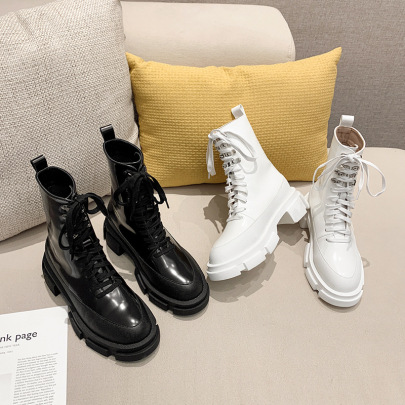 Lace-up Mid-tube Motorcycle Thin Short Boots Nihaostyles Wholesale Clothing Vendor NSCA72171