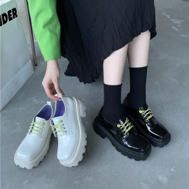 Fashion Lace-up Thick Shoes Nihaostyles Wholesale Clothing Vendor NSCA72172