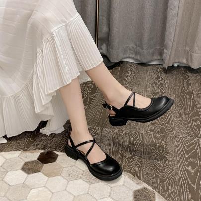 Buckle Cross Straps Flat Shoes Nihaostyles Wholesale Clothing Vendor NSCA72176