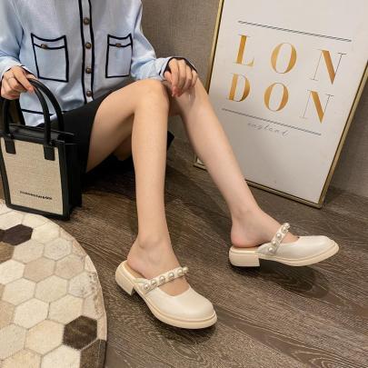 Thick Heel Trendy Sandals Nihaostyles Wholesale Clothing Vendor NSCA72177