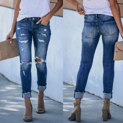 Retro Slim Feet Jeans Nihaostyles Wholesale Clothing Vendor NSJRM72195