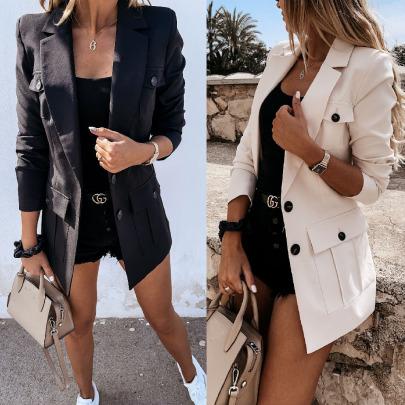 Long Sleeve Suit Collar Slim Small Blazer Nihaostyles Wholesale Clothing Vendor NSJRM72209