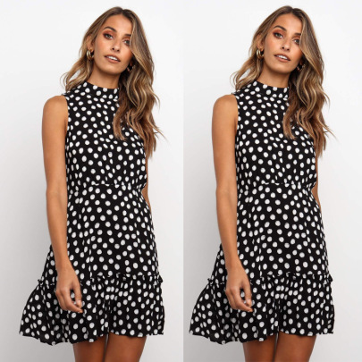 Polka Dot Ruffle Dress Nihaostyles Wholesale Clothing Vendor NSJRM72238