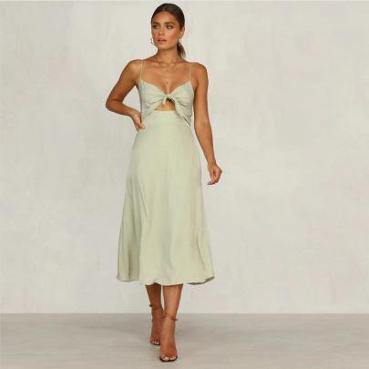 Sling Straps Sleeveless Midi Dress Nihaostyles Wholesale Clothing Vendor NSJRM72239