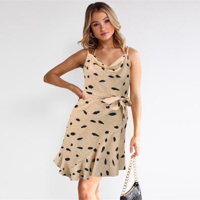 Sexy Print Suspender Dress Nihaostyles Wholesale Clothing Vendor NSHYG72297