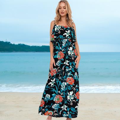 Fashion Floral Long Beach Dress Nihaostyles Wholesale Clothing Vendor NSHYG72300