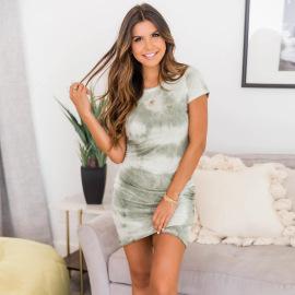 Tie-dye Printing Dress Nihaostyles Wholesale Clothing Vendor NSHYG72301