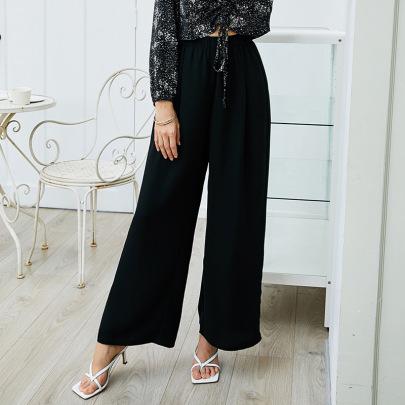 Elastic High Waist Thin Loose Pants Nihaostyles Wholesale Clothing Vendor NSLM72305