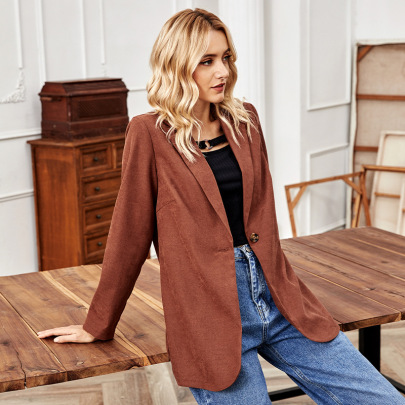 One-button Loose Long-sleeved Blazer Nihaostyles Wholesale Clothing Vendor NSLM72312