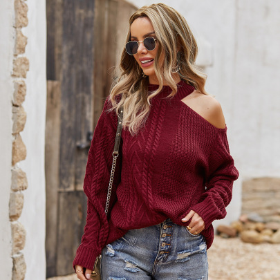 Solid Color Knit Twist Sweater Nihaostyles Wholesale Clothing Vendor NSKA72323