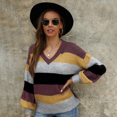 Long-sleeved Stitching Sweater Nihaostyles Wholesale Clothing Vendor NSKA72324