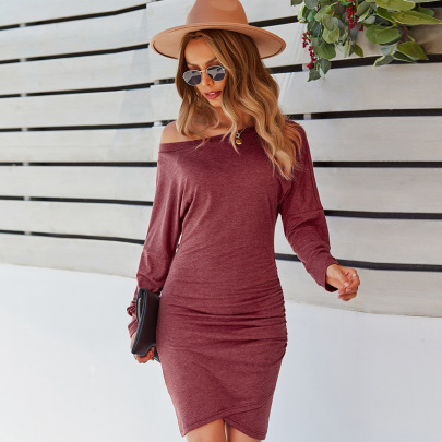 Knitted Slim High Elasticity Dress Nihaostyles Wholesale Clothing Vendor NSKA72326