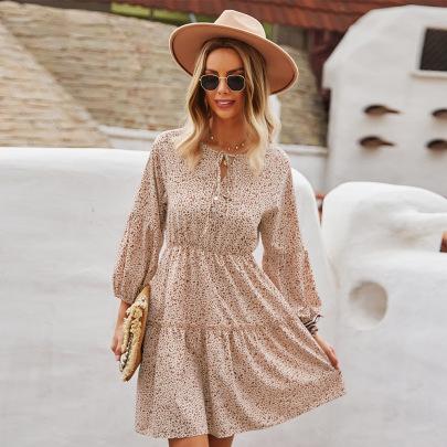 Waist Slim Long-sleeved Dress Nihaostyles Wholesale Clothing Vendor NSKA72328