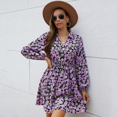 Romantic Floral Waist Dress Nihaostyles Wholesale Clothing Vendor NSKA72329