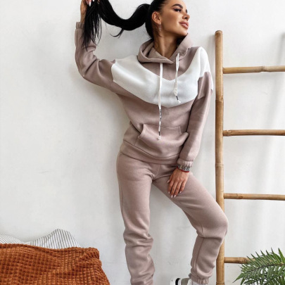 Sports Hooded Sweater Two-piece Set Nihaostyles Wholesale Clothing Vendor NSMUZ72354