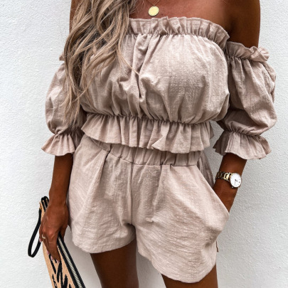 Summer New Casual Short-sleeved Clothing Two-piece Set Nihaostyles Wholesale Clothing Vendor NSMUZ72357