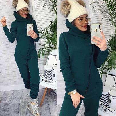 Plain Color Zipper Jumpsuit Nihaostyles Wholesale Clothing Vendor NSMUZ72382