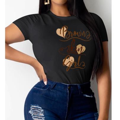 Women's Retro Style Love English Print Short-sleeved T-shirt Nihaostyles Clothing Wholesale NSYAY73753