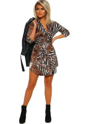 Women's V-neck Long-sleeved Dress Nihaostyles Clothing Wholesale NSJRM72420