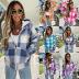 women's loose plaid woolen multicolor hooded jacket nihaostyles clothing wholesale NSXPF72447