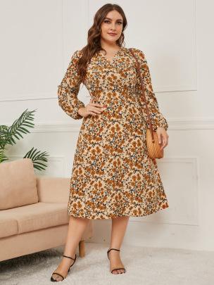 Women's Slim Print Bandage Dress Nihaostyles Clothing Wholesale NSCX72504