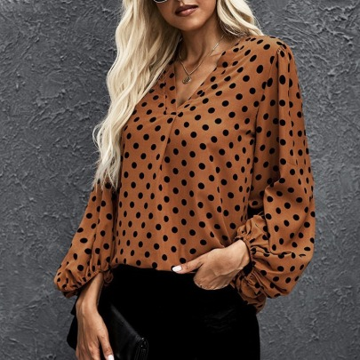 Women's Wave Point Loose Long Sleeve Shirt Nihaostyles Clothing Wholesale NSCX72519