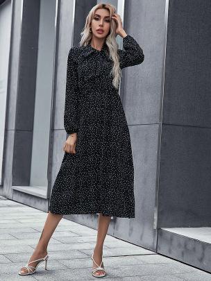 Women's Long-sleeved Dress Nihaostyles Clothing Wholesale NSCX72523