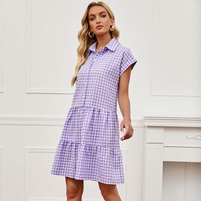 New Fashionable Collar Loose Shirt Dress Nihaostyles Wholesale Clothing Vendor NSCX72570