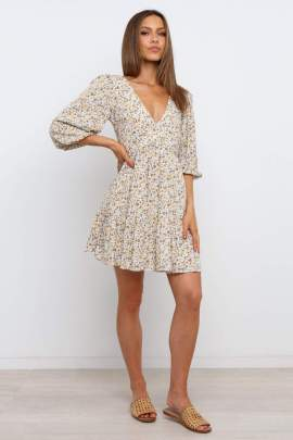 New Floral Printed Dress Nihaostyles Wholesale Clothing Vendor NSCX72580