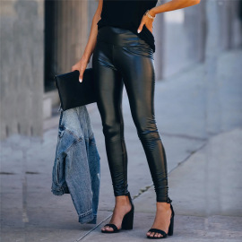 Sexy High Waist Leather Leggings Nihaostyles Wholesale Clothing Vendor NSQY72654