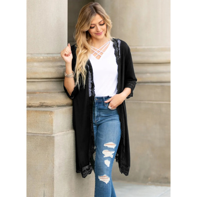 Spring And Summer Loose Lace Cardigan Nihaostyles Clothing Wholesale NSHYG72674
