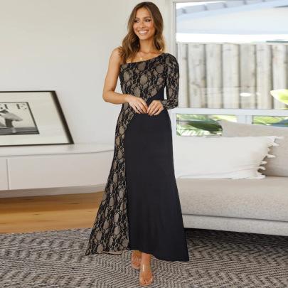 Women's Splicing Evening Lace Dress Nihaostyles Clothing Wholesale NSHYG72686
