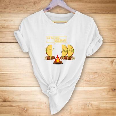 Women's Creative Cartoon English Printing Short-sleeved T-shirt Nihaostyles Clothing Wholesale NSYAY73761