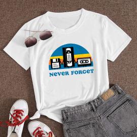 Women's Cartoon Printed Short-sleeved T-shirt Nihaostyles Clothing Wholesale NSYAY73757