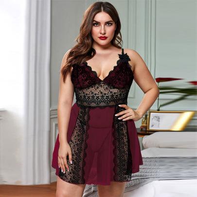 Women's Lace Plus Size Pajamas Nihaostyles Clothing Wholesale NSMDS76830