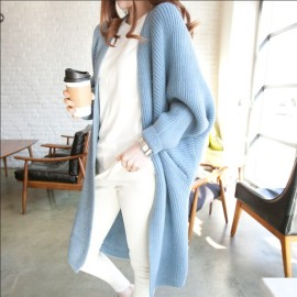 Women's Loose Thickened Mid-length Knitted Coat Nihaostyles Clothing Wholesale NSBY76853