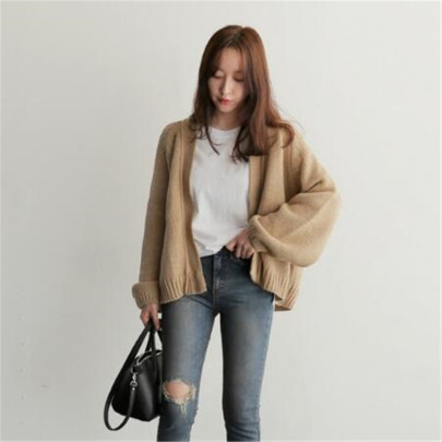 Women's Loose Knit Cardigan Nihaostyles Clothing Wholesale NSBY76854