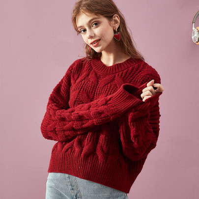 Half High Neck Twist Short Pullover Sweater Nihaostyles Clothing Wholesale NSBY76864